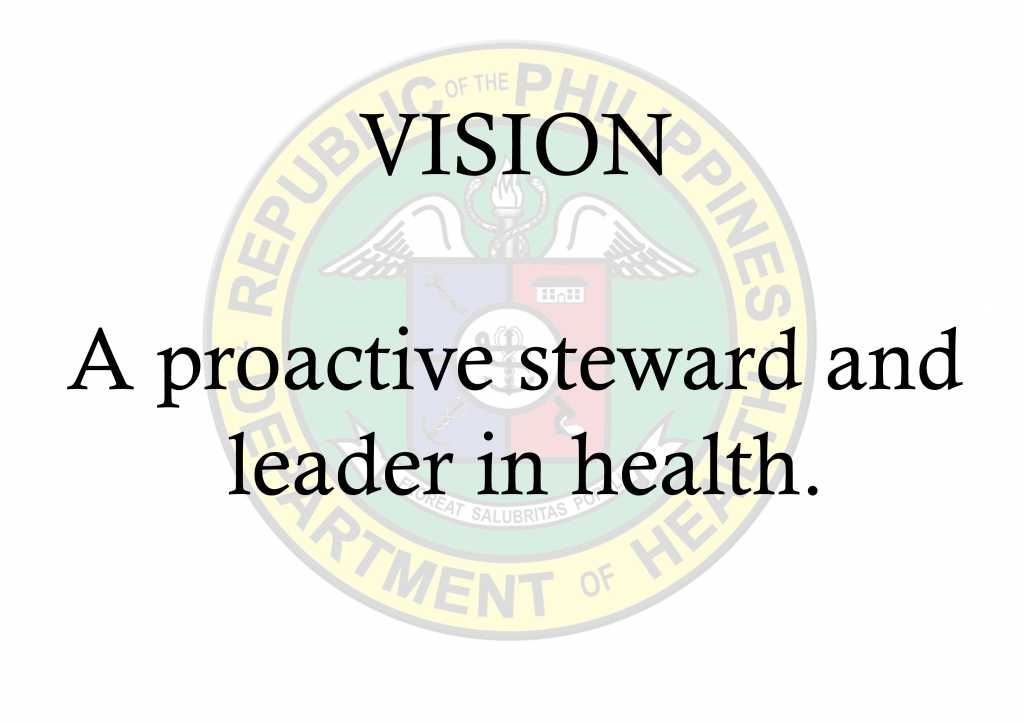 Vision: A proactive steward and leader in health